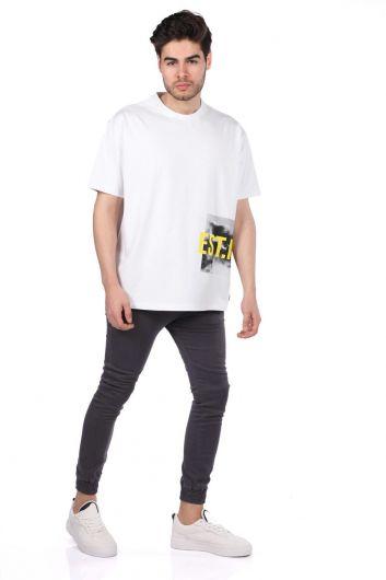 Oversize Crew Neck Men's T-Shirt - Thumbnail