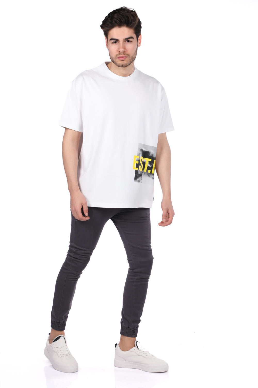 Мужская футболка оверсайз с круглым вырезом
