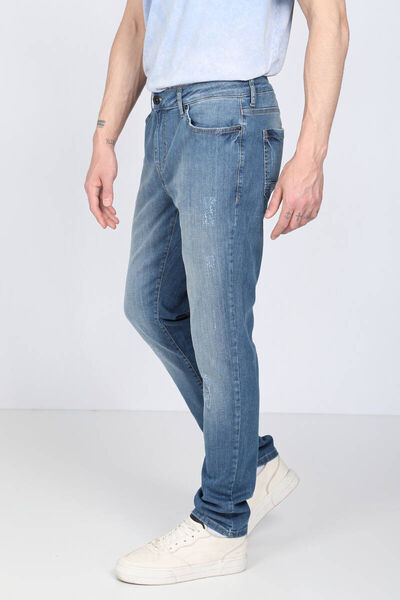 Banny Jeans - بنطلون جينز رجالي بقصة مستقيمة أزرق فاتح (1)