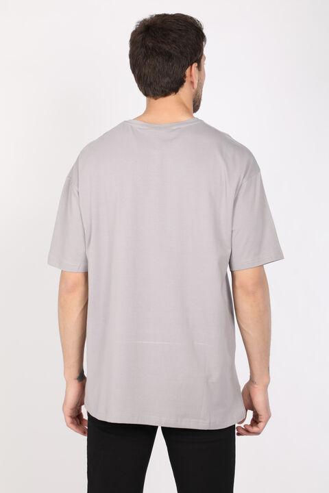 Men's Light Gray Crew Neck Oversize T-shirt