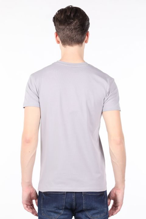Men's Light Gray Crew Neck T-shirt