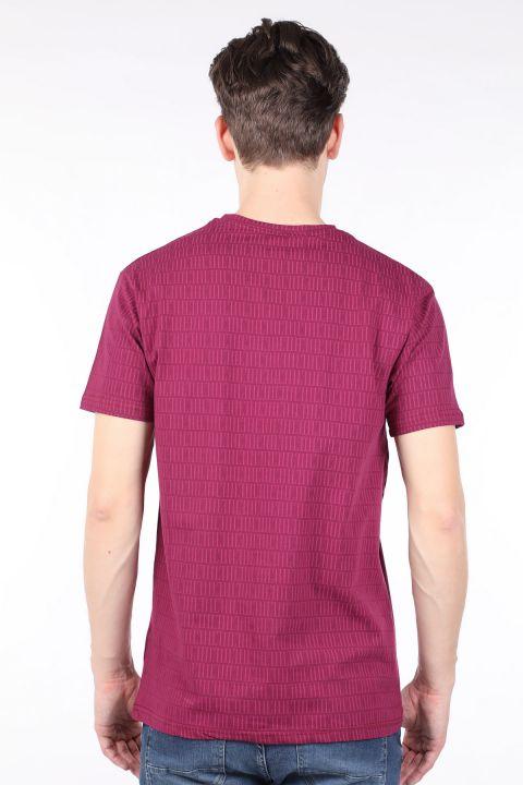 Men's Damson Printed Crew Neck T-shirt