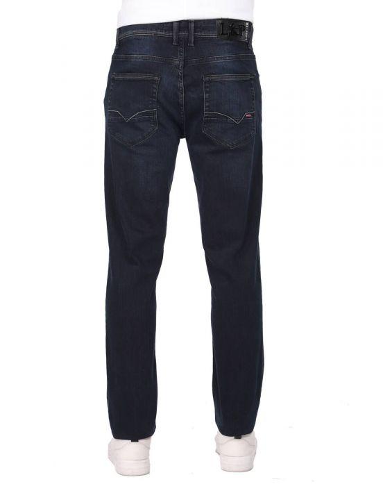 بنطلون جينز كاجوال أزرق كحلي للرجال