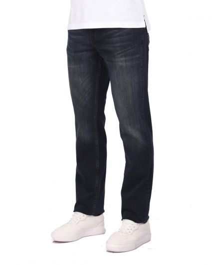 LAST PLAYER - Men's Navy Blue Casual Jean Trousers (1)