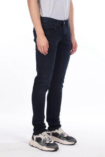 MARKAPIA MAN - Мужские темно-синие джинсовые брюки стандартного кроя (1)
