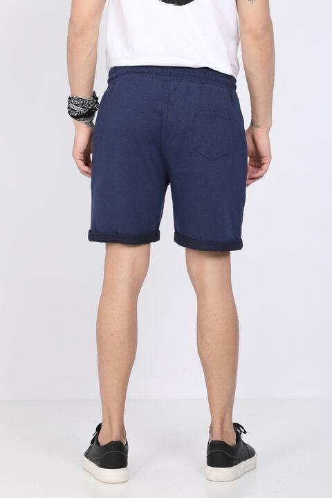 Мужские темно-синие базовые шорты из тканого материала
