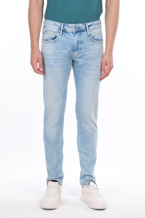Мужские джинсовые брюки с заниженной талией