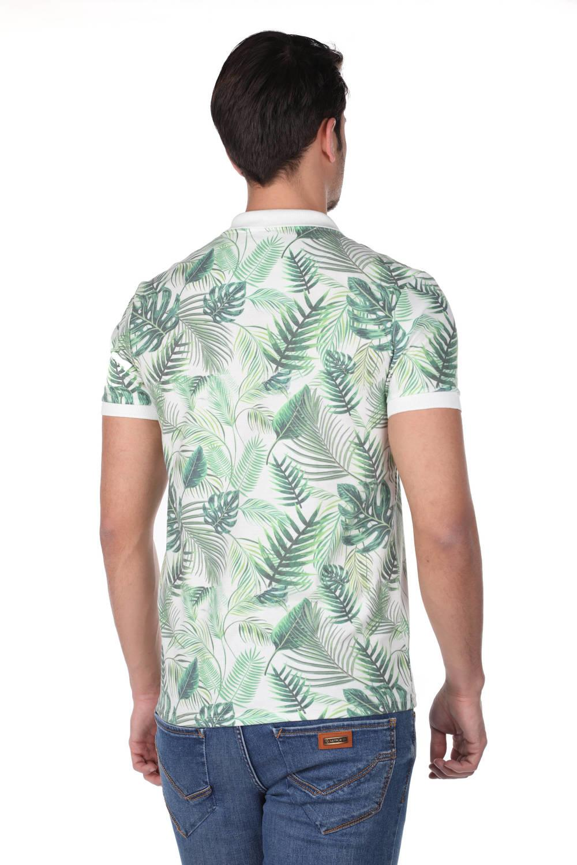 Мужская футболка с воротником-поло Green Leaf