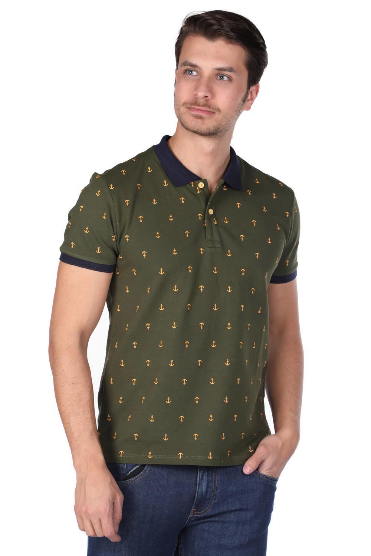 Мужская футболка с воротником-поло с рисунком