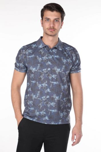 Мужская футболка с воротником-поло - Thumbnail