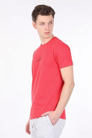 COUTURE - Мужская футболка с круглым вырезом на спине и принтом цветов граната (1)
