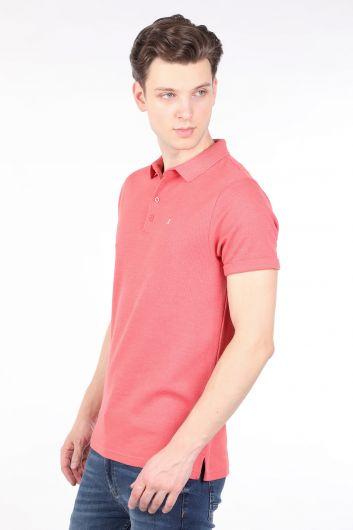 BLUE WHITE - Мужская футболка-поло с цветком граната (1)