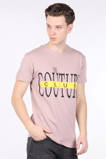 Men's Powder Couture Printed Crew Neck T-shirt - Thumbnail