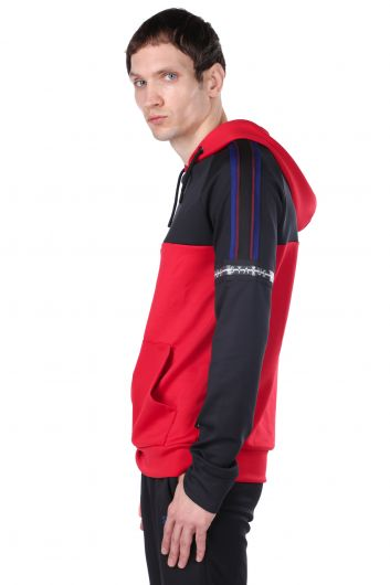 STATUS - Men's Red Piece Hoodie Sweatshirt (1)