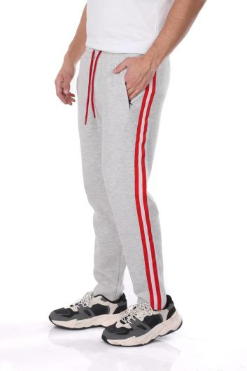 MARKAPIA - Men's Side Stripe Straight Sweatpants (1)
