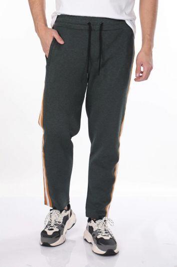 Men's Side Stripe Straight Sweatpants - Thumbnail