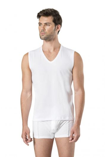PİERRE CARDİN - Pierre Cardin Men's Sleeveless V-Neck Athlete (1)