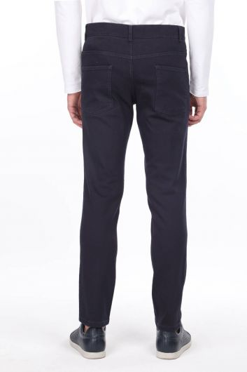 Men's Straight Cut Chino Trousers - Thumbnail