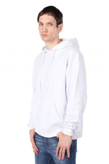 MARKAPIA MAN - Men's Hooded Sweatshirt with Skull Print on the Back (1)