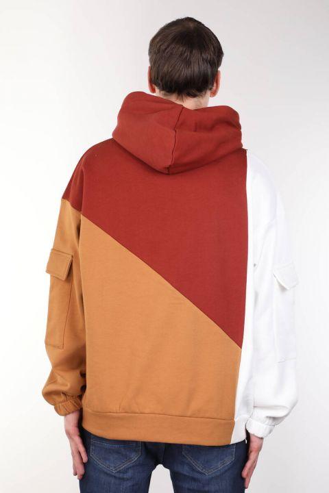 Men's Tile Piece Hooded Oversize Sweatshirt
