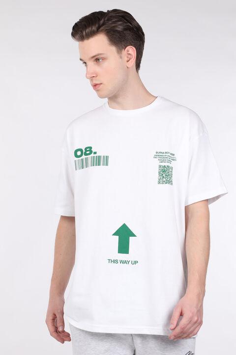 Мужская футболка с круглым вырезом и принтом White Code