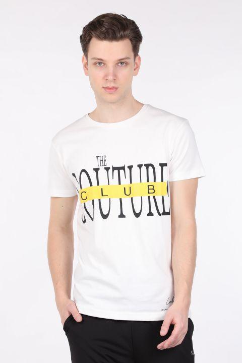 Мужская футболка с круглым вырезом и принтом Ecru Couture