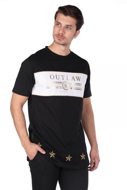 Men's Zipper Detailed Crew Neck T-Shirt
