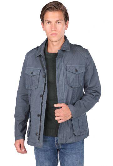 ZEUS - Мужская прямая куртка с воротником на молнии и воротником (1)