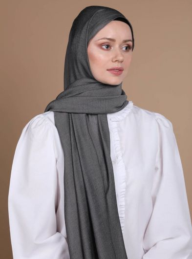 Meyra Women Gray Shawl - Thumbnail