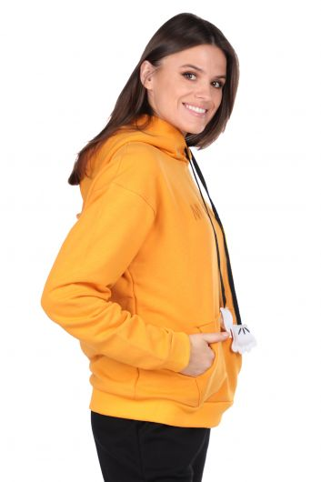 MARKAPIA WOMAN - Толстовка с капюшоном Mickey Mause с надписью (1)