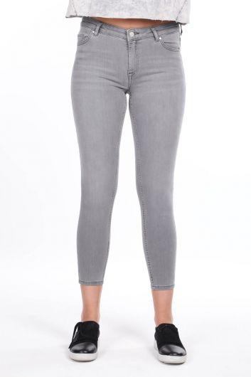Mid Waist Skinny Jeans - Thumbnail