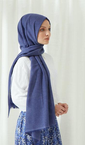 MİRAY - Бамбуковая хлопковая шаль Miray цвета индиго из бамбука (1)