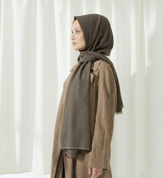 MİRAY - Шаль Miray Bamboo Cotton Khaki (1)