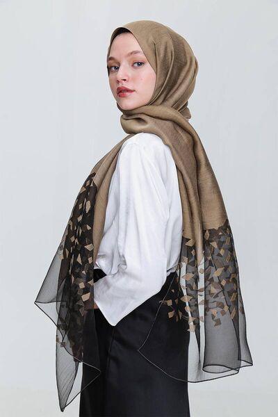 MİRAY - شال ميراي ابيزا ذهبي غامق (1)