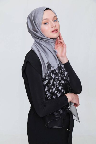 MİRAY - ميراي إيبيزا شال رمادي (1)