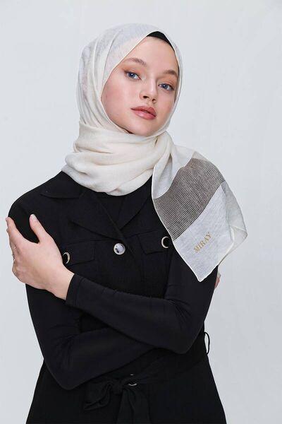 MİRAY - Miray New Pearl شال كريم / ذهبي (1)