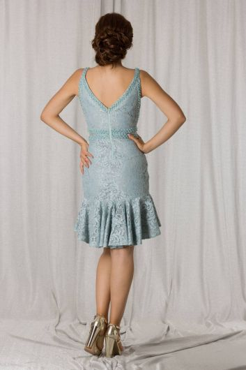shecca - Short Frilly Lace Evening Dress (1)