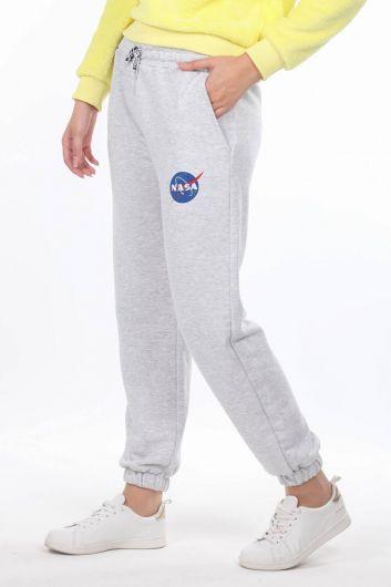 MARKAPIA WOMAN - Эластичные женские брюки с принтом Nasa (1)