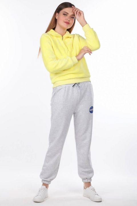 Эластичные женские брюки с принтом Nasa