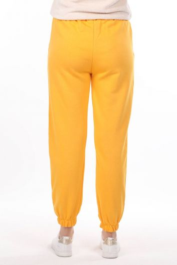 Nasa Printed Rubberized Yellow Women's Sweatpants - Thumbnail