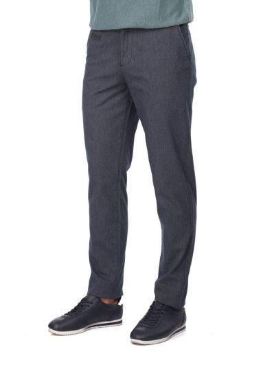 MARKAPIA MAN - Navy Blue Relaxed Cut Men's Chino Pants (1)