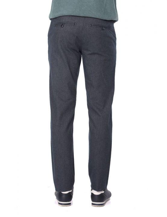 Темно-синие мужские брюки чинос свободного покроя