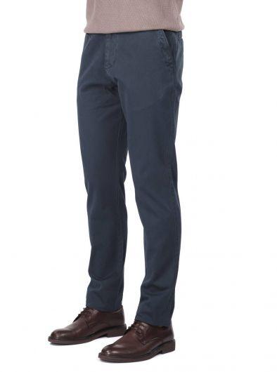 MARKAPIA MAN - بنطال تشينو كاجوال للرجال باللون الأزرق الداكن (1)