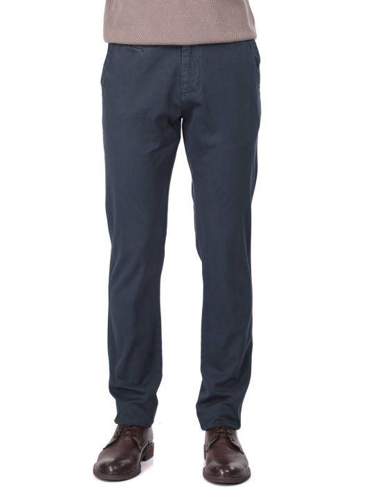 Темно-синие мужские брюки чинос повседневного кроя