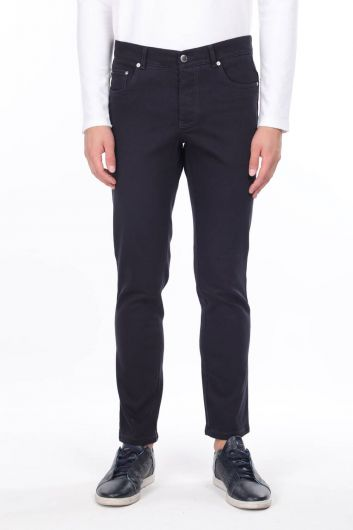 Navy Blue Men's Chino Pants - Thumbnail