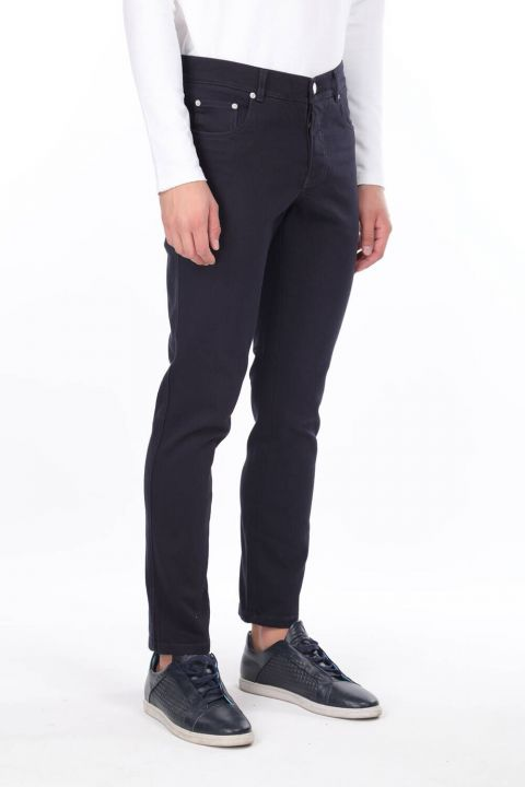 Navy Blue Men's Chino Pants