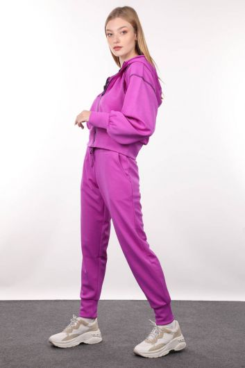 MARKAPIA WOMAN - Neon Lila Jogger Women's Track Suit (1)