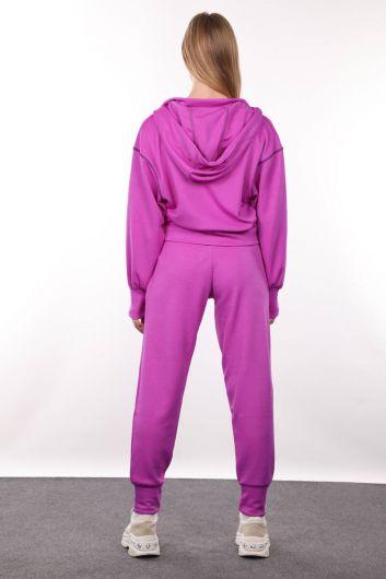 Neon Lila Jogger Women's Track Suit - Thumbnail