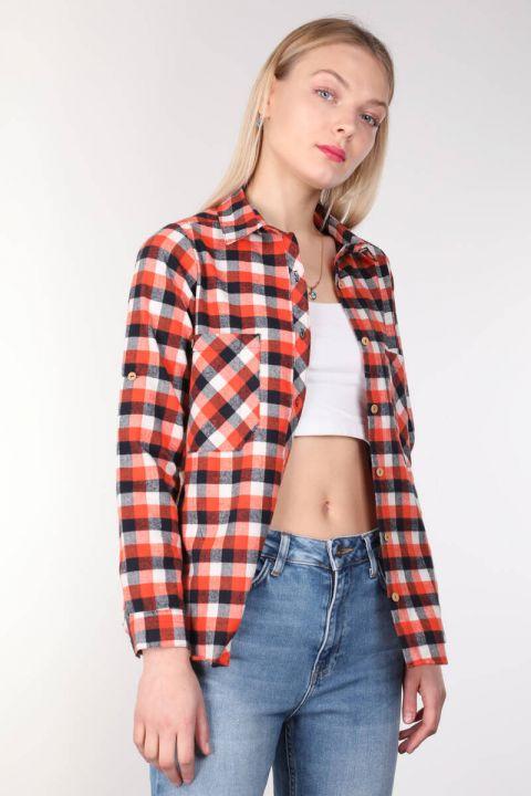 Multi Color Plaid Women Shirt
