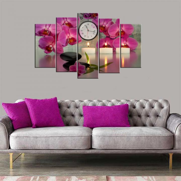 Orkide 5 Piece Mdf Clock Table